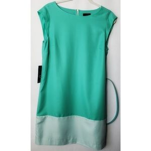 The Limited Green Color Block Dress Sz Medium NWT